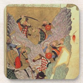 Genghis Khan (c.1162-1227) que lucha a los chinos  Posavasos De Bebida