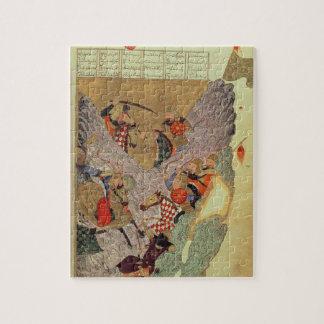 Genghis Khan (c.1162-1227) que lucha a los chinos  Rompecabezas