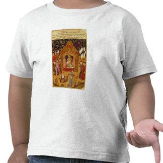 Genghis Khan en su tienda por el al-Dinar de Rashi Camiseta