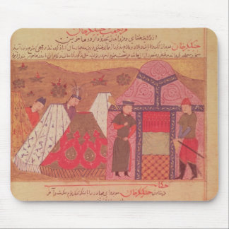 Genghis Khan outside his tent Mouse Pad