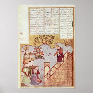 Genghis Khan que se dirige a una congregación Poster