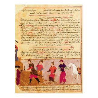 Genghis Khan y sus hijos por el al-Dinar de Rashid Postales