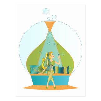 Genie Blowing Bubbles Post Cards