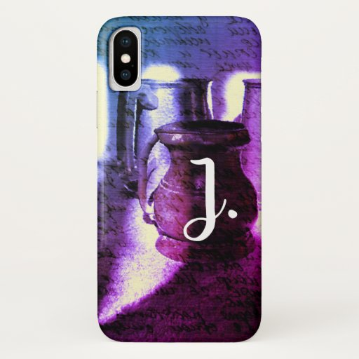 Genie Jinn Jug with a monogram and writtings iPhone XS Case
