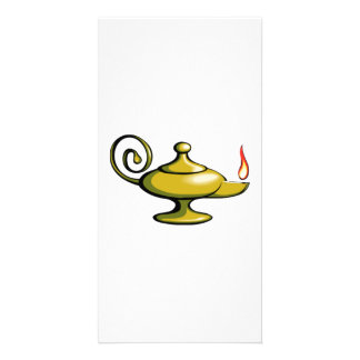 Genie Lamp Photo Card
