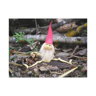 Genie seated in the forest, Sitting elf in Forest Canvas Print