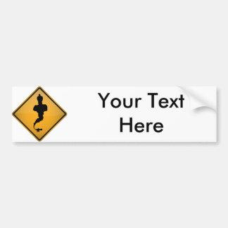Genie Warning Sign Bumper Sticker