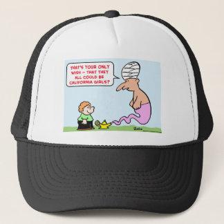 genie wish california girls trucker hat