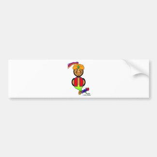 Genie (with logos) bumper sticker