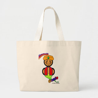 Genie (with logos) large tote bag
