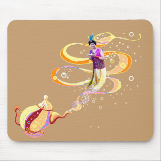 Genie with magic lamp mouse pad