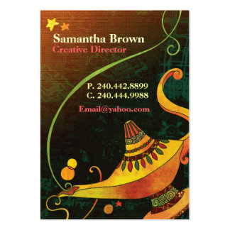 Genie's Lamp Chic Fantasy Business Cards Chubby Business Cards