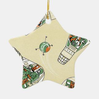 Genimi Space Program Double-Sided Star Ceramic Christmas Ornament