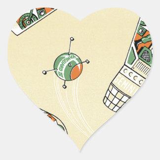 Genimi Space Program Heart Sticker