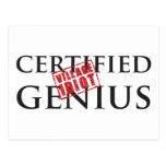 Genio certificado: IDIOTA 2 DEL PUEBLO Postal