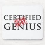 Genio certificado: IDIOTA 2 DEL PUEBLO Alfombrilla De Ratón