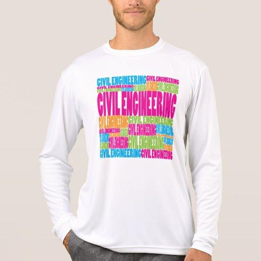 Genio civil colorido camisas