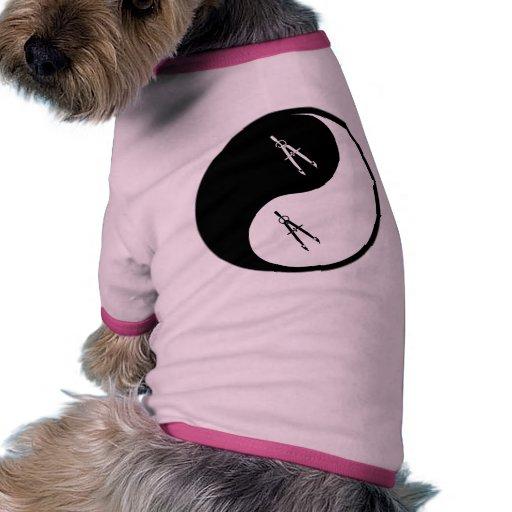 Genio civil de Yin Yang Camiseta Con Mangas Para Perro
