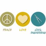 Genio civil del amor de la paz esculturas fotográficas