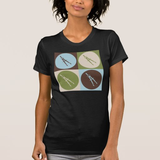 Genio civil del arte pop camiseta