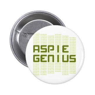 Genio de Aspie - ordenadores Pins