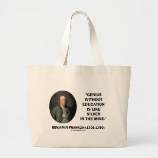 Genio de Benjamin Franklin sin cita de la educació Bolsa