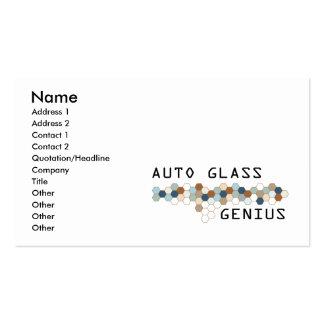Genio de cristal auto tarjetas de visita