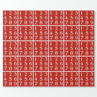 Genio de florecimiento de la matemáticas papel de regalo