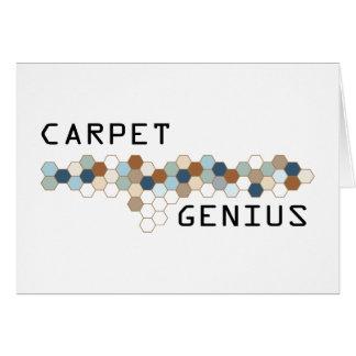 Genio de la alfombra tarjeta de felicitación