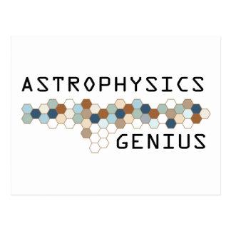 Genio de la astrofísica tarjeta postal
