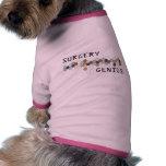 Genio de la cirugía camisas de mascota