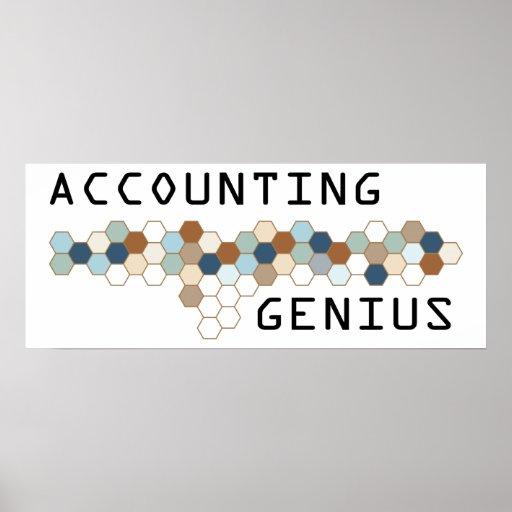 Genio de la contabilidad póster