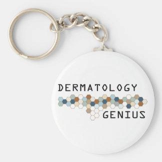 Genio de la dermatología llavero redondo tipo pin