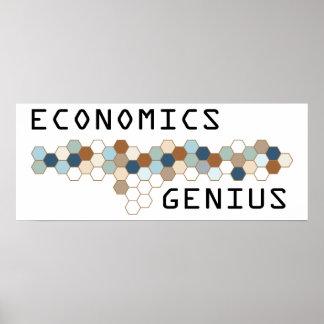 Genio de la economía póster