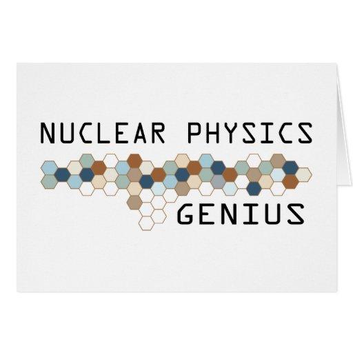 Genio de la física nuclear tarjetas