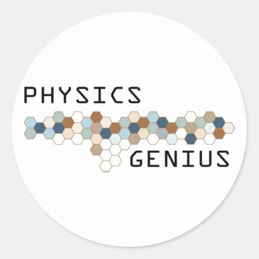 Genio de la física pegatinas redondas