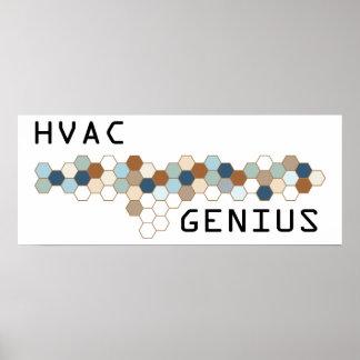 Genio de la HVAC Posters