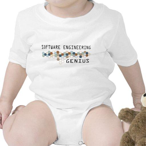 Genio de la ingeniería de programas informáticos trajes de bebé