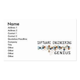 Genio de la ingeniería de programas informáticos tarjetas de visita