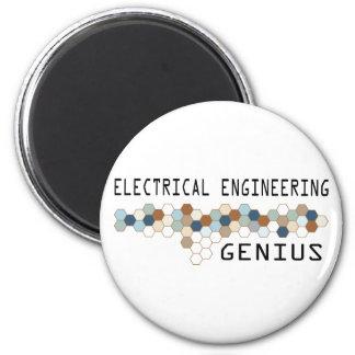 Genio de la ingeniería eléctrica imán de frigorifico