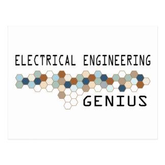 Genio de la ingeniería eléctrica postales