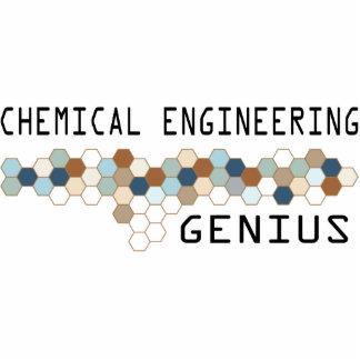 Genio de la ingeniería química adorno fotoescultura