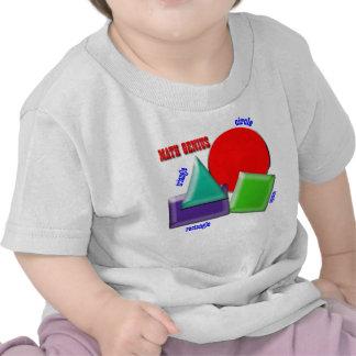 Genio de la matemáticas camisetas