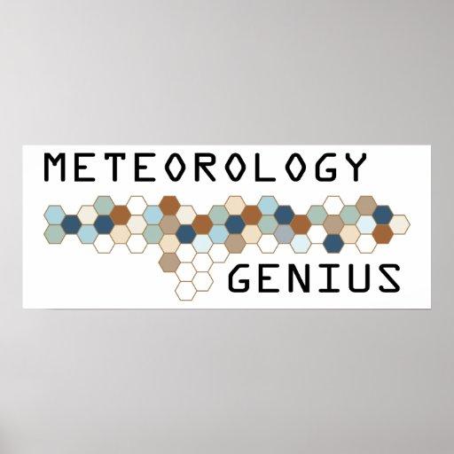 Genio de la meteorología posters