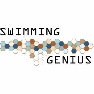 Genio de la natación esculturas fotograficas