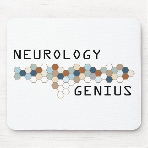Genio de la neurología alfombrilla de ratones