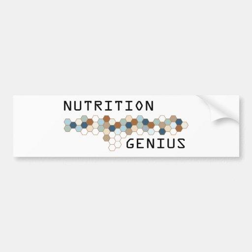 Genio de la nutrición etiqueta de parachoque