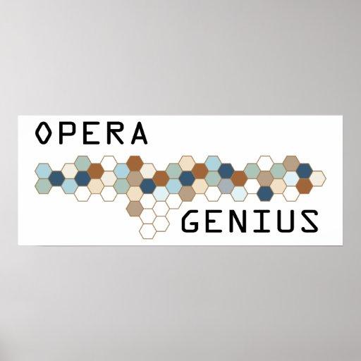 Genio de la ópera póster