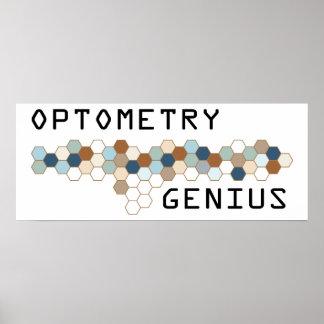 Genio de la optometría póster