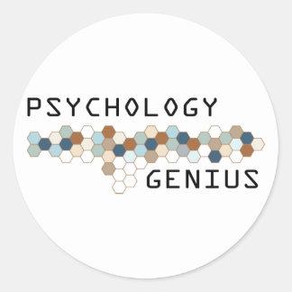Genio de la psicología pegatina redonda